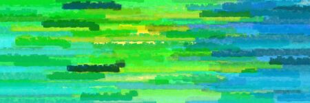 horizontal mosaic lines texture graphic with lime green, light sea green and teal colors