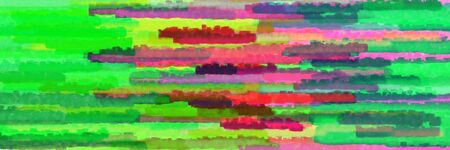 various horizontal stripes graphic illustration with lime green, pale violet red and old mauve colors Stok Fotoğraf