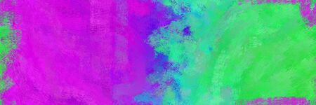 abstract seamless pattern brush painted background with medium sea green, magenta and dark orchid color. can be used as wallpaper, texture or fabric fashion printing. Stok Fotoğraf