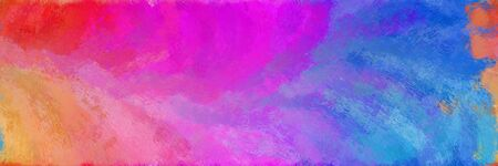 abstract seamless pattern brush painted background with medium orchid, royal blue and pale violet red color. can be used as wallpaper, texture or fabric fashion printing.