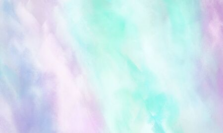 abstract painted background with lavender, white smoke and pale turquoise color and space for text