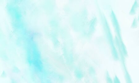 abstract watercolor painted background with light cyan, pale turquoise and baby blue color and space for text or image