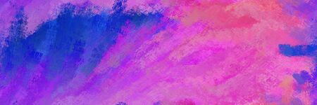 abstract seamless pattern brush painted texture with medium orchid, strong blue and blue violet color. can be used as wallpaper, texture or fabric fashion printing. 스톡 콘텐츠