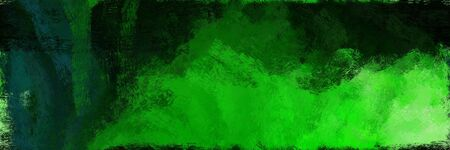 abstract seamless pattern brush painted texture with lime green, very dark green and green color. can be used as wallpaper, texture or fabric fashion printing. 스톡 콘텐츠