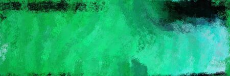 abstract seamless pattern brush painted design with medium sea green, very dark green and medium turquoise color. can be used as wallpaper, texture or fabric fashion printing.