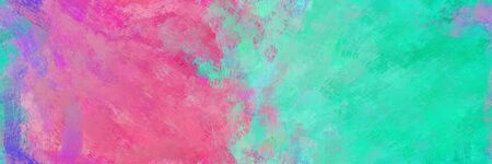 abstract seamless pattern brush painted background with pale violet red, light sea green and medium aqua marine color. can be used as wallpaper, texture or fabric fashion printing. 스톡 콘텐츠