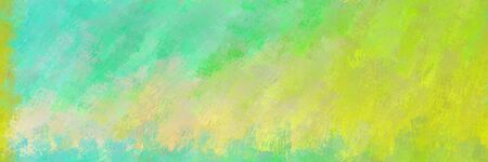 abstract seamless pattern brush painted background with dark khaki, yellow green and medium aqua marine color. can be used as wallpaper, texture or fabric fashion printing.
