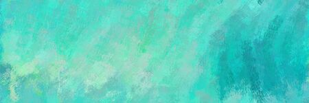 seamless pattern art. grunge abstract background with medium aqua marine, medium turquoise and light sea green color. can be used as wallpaper, texture or fabric fashion printing.