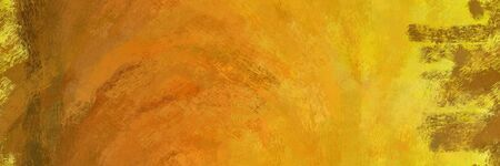 abstract seamless pattern brush painted background with dark golden rod, golden rod and vivid orange color. can be used as wallpaper, texture or fabric fashion printing. 스톡 콘텐츠