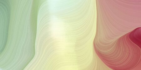 modern curvy waves background illustration with tan, pastel gray and moderate red color.