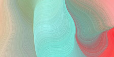 modern waves background design with ash gray, dark sea green and indian red color.