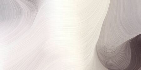 modern waves background illustration with light gray, antique white and dim gray color.