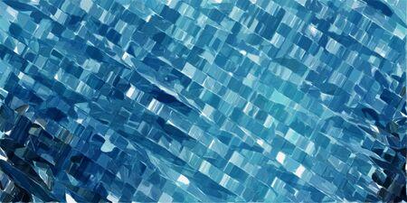 ティールブルー、パウダーブルー、非常に濃い青色の未来的な現代技術ストライプの背景。 写真素材