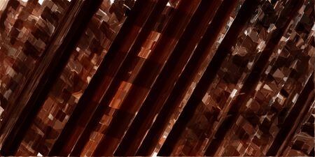 abstract futuristic modern tech stripes wallpaper with very dark red, rosy brown and saddle brown colors.