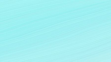 simple elegant abstract waves illustration with pale turquoise, baby blue and light blue color.