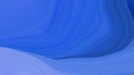 simple colorful abstract waves design with royal blue, corn flower blue and strong blue color.