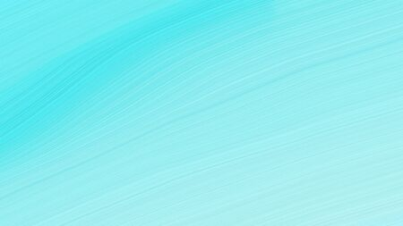 simple colorful modern soft swirl waves background design with pale turquoise, aqua marine and turquoise color.