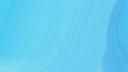 simple elegant abstract waves illustration with sky blue, baby blue and medium turquoise color. Banco de Imagens