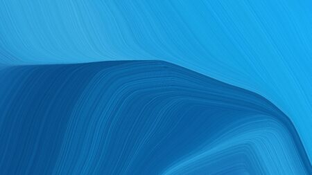 simple elegant modern curvy waves background design with dodger blue, strong blue and teal color.