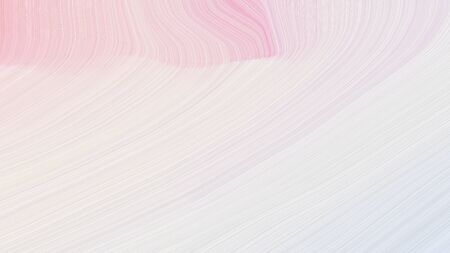 simple colorful modern curvy waves background illustration with linen, misty rose and baby pink color.