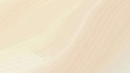 simple colorful modern soft swirl waves background illustration with bisque, beige and light golden rod yellow color.
