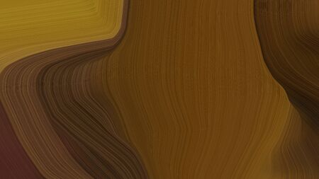 simple colorful modern curvy waves background illustration with chocolate, brown and very dark red color.