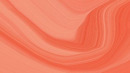 simple elegant modern soft curvy waves background illustration with salmon, tomato and coffee color.