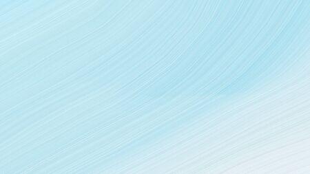 simple elegant contemporary waves design with pale turquoise, powder blue and lavender color. Banco de Imagens