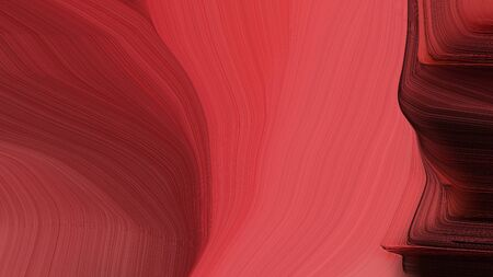 simple elegant curvy swirl waves background illustration with moderate red, very dark red and dark moderate pink color.