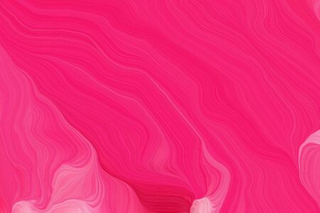 vibrant colors curvy background illustration with deep pink, bright pink and pastel magenta color.