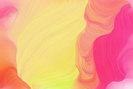 bright colors modern curvy waves background design with khaki, pastel red and light coral color.