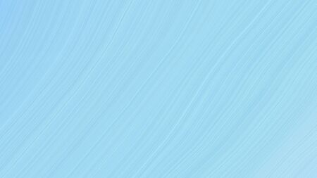 simple colorful abstract waves design with light blue, sky blue and pale turquoise color. Standard-Bild