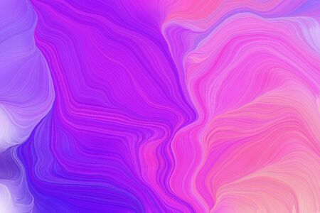 vibrant colors smooth swirl waves background illustration with blue violet, neon fuchsia and violet color. Banco de Imagens