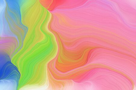 vibrant colors modern curvy waves background illustration with light coral, steel blue and dark khaki color.