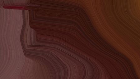 simple colorful smooth swirl waves background design with very dark pink, pastel brown and old mauve color. Banco de Imagens