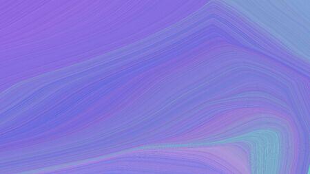simple elegant modern waves background illustration with medium purple, corn flower blue and sky blue color. Standard-Bild