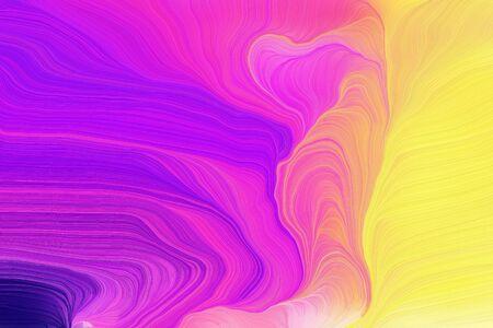 bright colors contemporary waves illustration with medium orchid, khaki and indigo color. Banco de Imagens