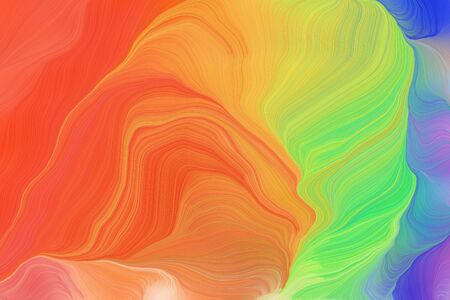 vibrant colors modern soft curvy waves background design with tomato, light slate gray and dark khaki color. Banco de Imagens