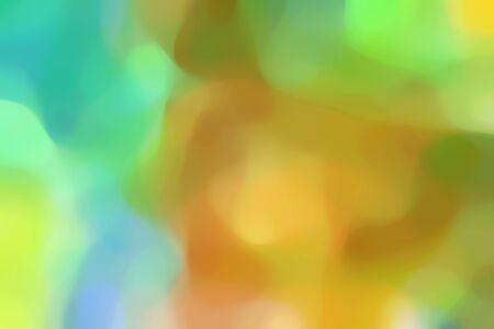 Weicher, verschwommener universeller Hintergrund mit gelbgrünen, mittleren Aquamarin- und Peru-Farben und Platz für Text.