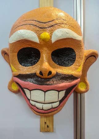 papiermache: Paper mache mask Stock Photo