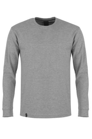 Gray long sleeve t-shirt Stock Photo