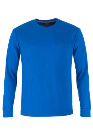sleeve: Blue long sleeve t-shirt