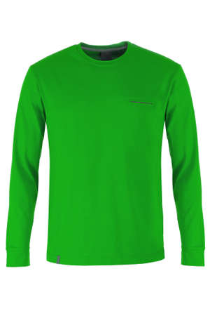 sleeve: Green long sleeve t-shirt Stock Photo