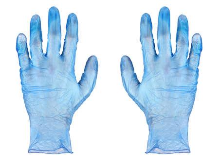 coroner: Blue rubber gloves