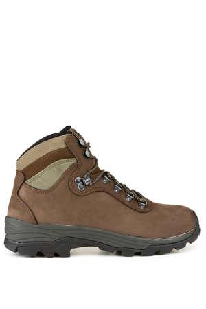 High mountain, brown shoe Stock Photo