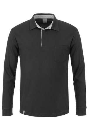 sleeve: Black long sleeve polo t-shirt Stock Photo