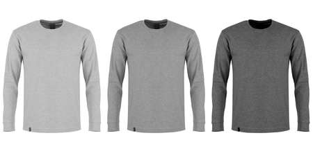 sleeve: Gray long sleeve t-shirt Stock Photo