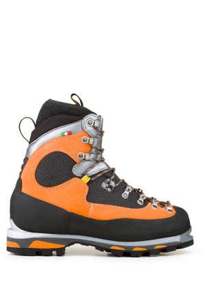 High mountain, orange shoe
