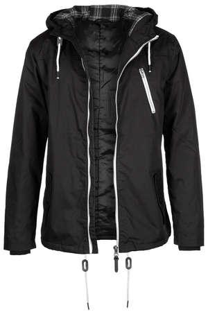 unzipped: Unzipped black jacket Stock Photo