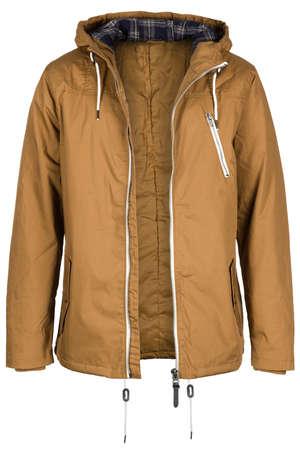unzipped: Unzipped brown jacket